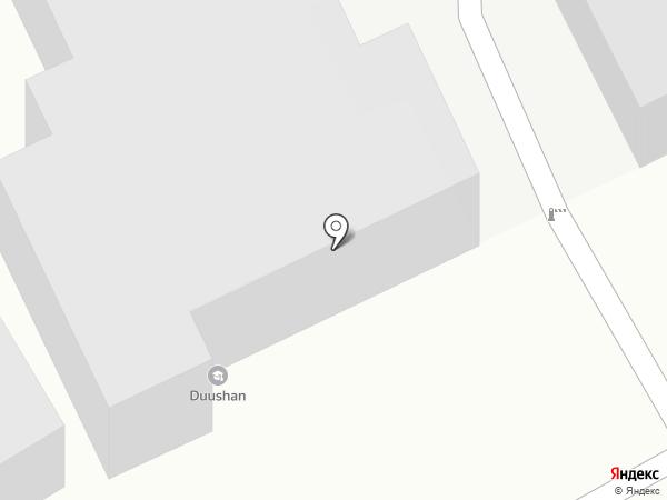 Туссэ на карте Улан-Удэ