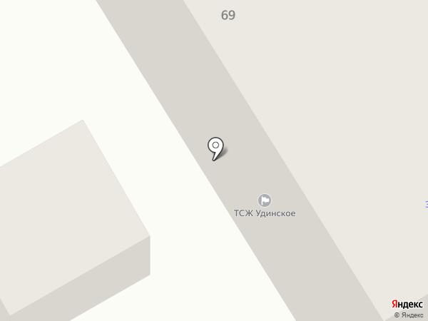 Удинское на карте Улан-Удэ
