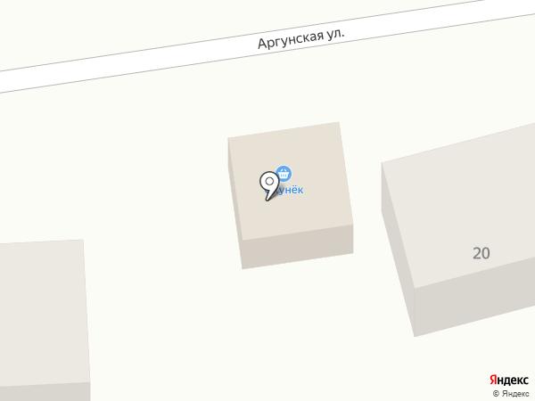 Окунек на карте Улан-Удэ