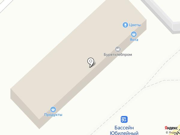 Янта на карте Улан-Удэ