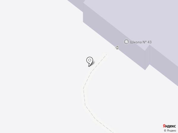 Средняя общеобразовательная школа №43 на карте Читы
