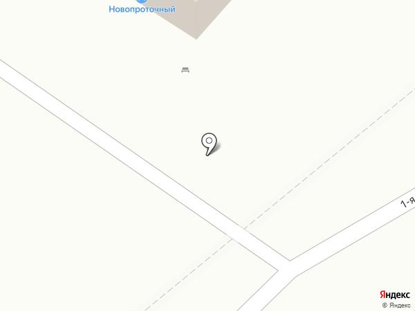 Новопроточный на карте Читы