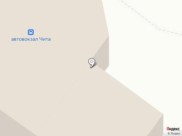 Читинский автовокзал на карте Читы