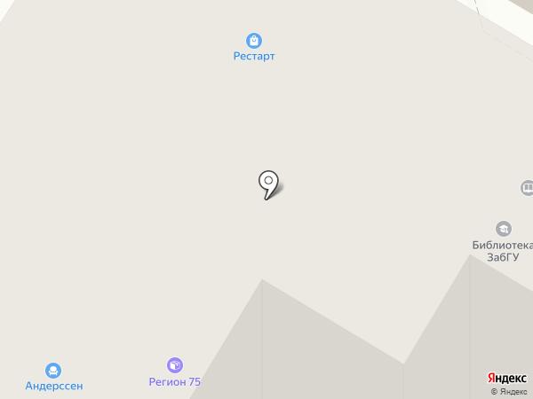 Искра на карте Читы