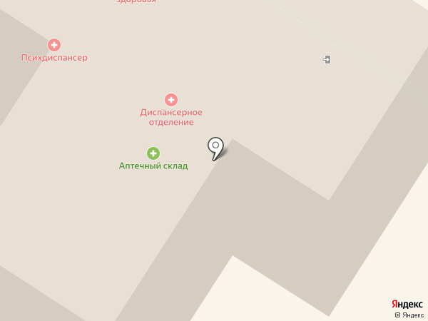 Краевая клиническая психиатрическая больница им. В.Х. Кандинского на карте Читы