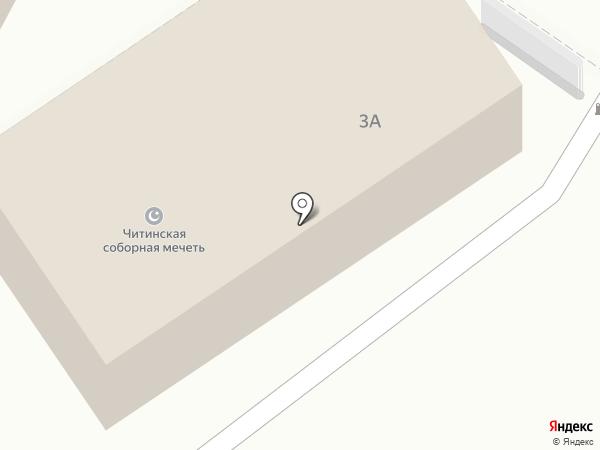 Читинская соборная мечеть на карте Читы