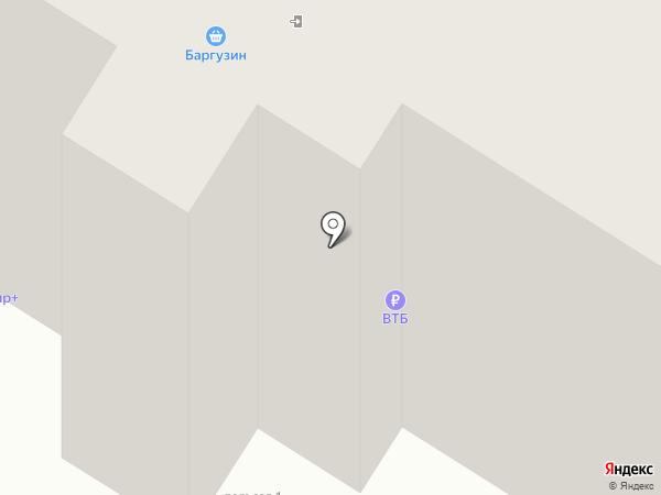 Баргузин на карте Читы