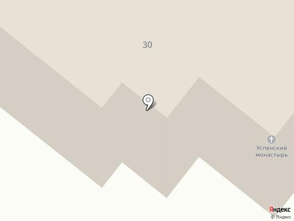Свято-Успенский мужской монастырь на карте Читы
