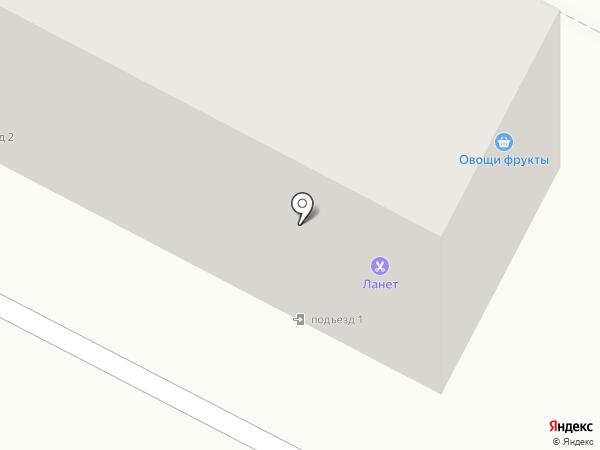 Ланэт на карте Благовещенска