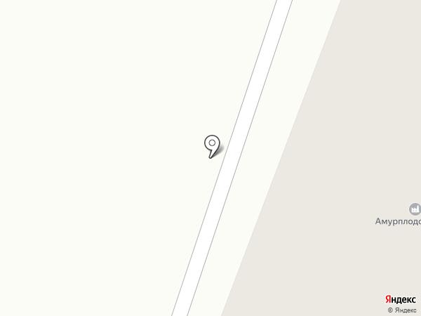 Амурплодсемпром, ЗАО на карте Плодопитомника