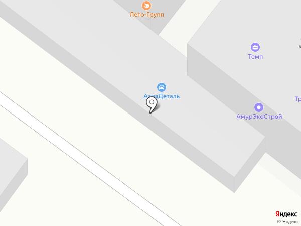 ТЕМП на карте Благовещенска