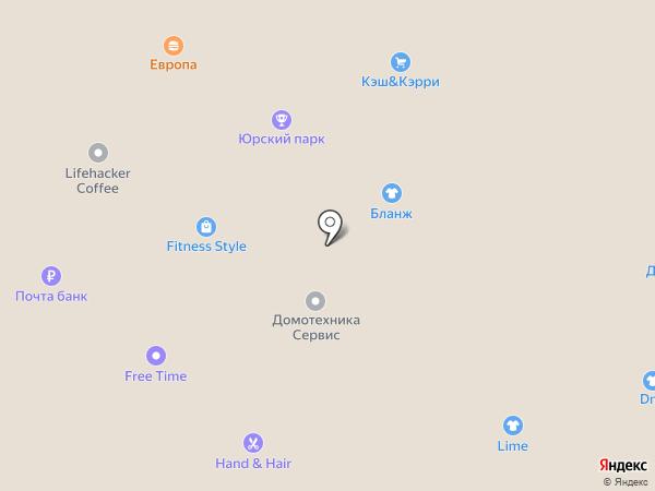 Хотей на карте Благовещенска