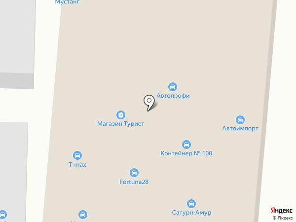 Магазин автооптики на карте Благовещенска