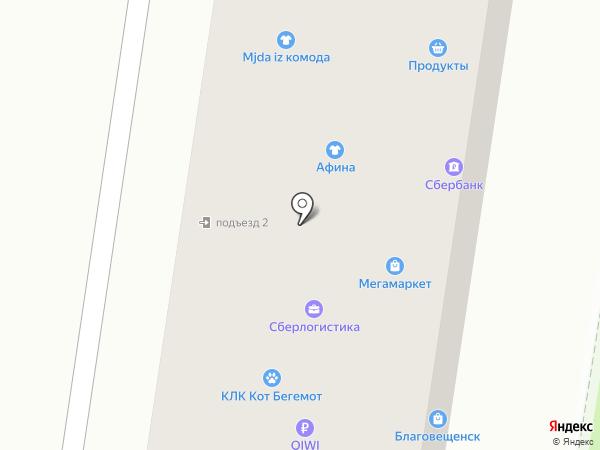 Благовещенск на карте Благовещенска