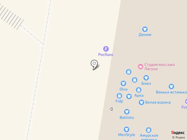 Шпилька на карте Благовещенска