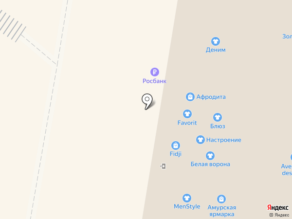 Блинная лавка на карте Благовещенска