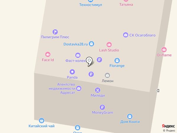 Дом книги на карте Благовещенска