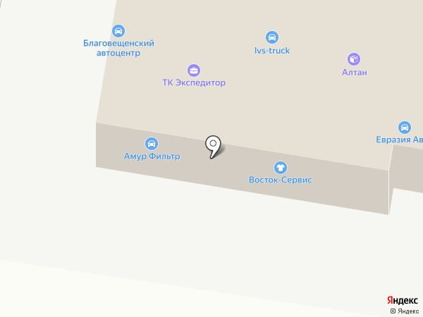 Максинтер на карте Благовещенска