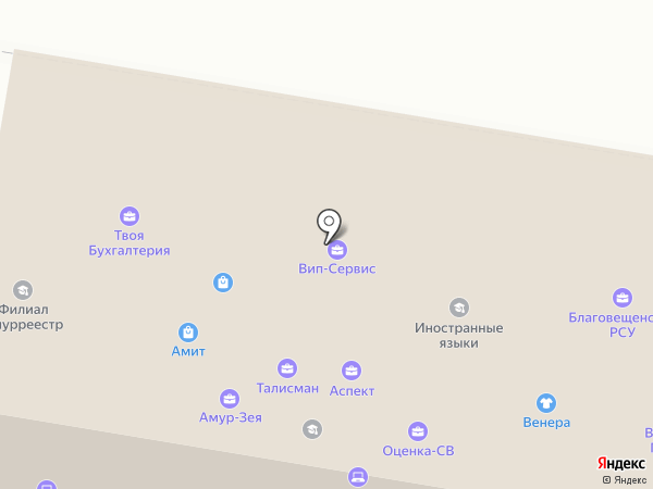 АмИТ на карте Благовещенска