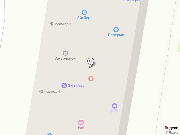 Максимед на карте Благовещенска