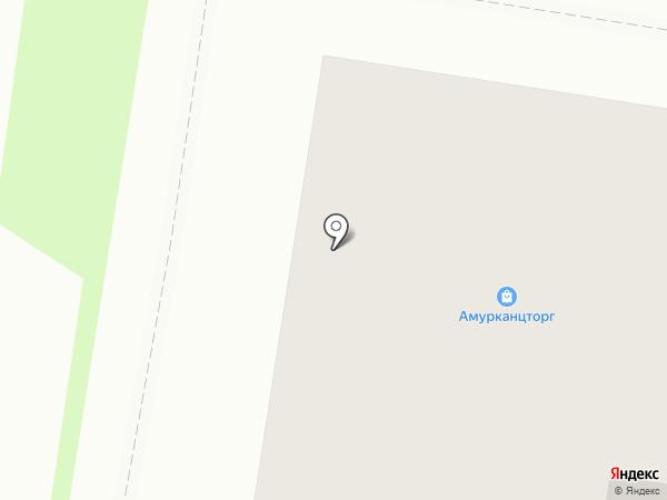 Амурканцторг на карте Благовещенска
