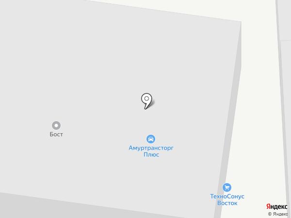 МедАвто Сервис на карте Благовещенска