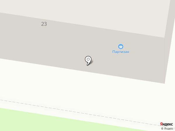 Партизан на карте Благовещенска