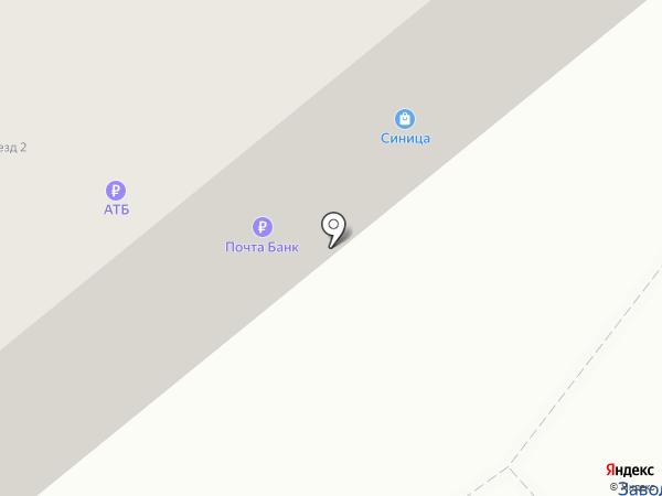 Почтовое отделение на карте Белогорья