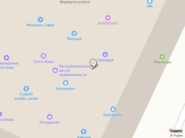 Континент на карте Якутска