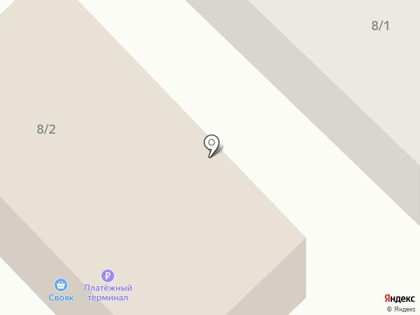 Свояк на карте Якутска
