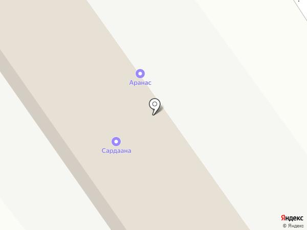 Анемона на карте Якутска