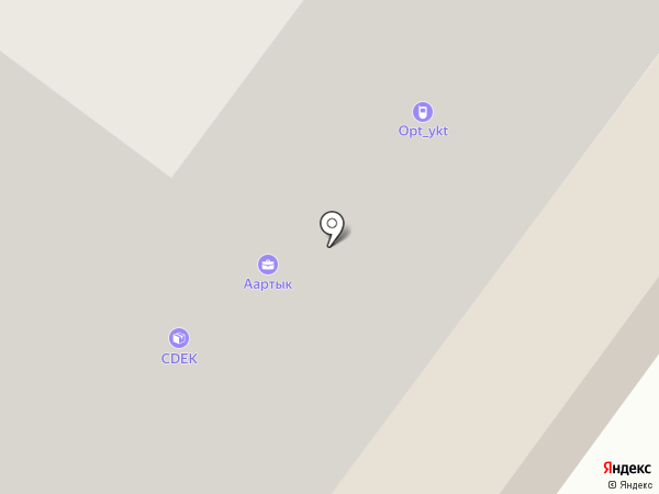 Лотос на карте Якутска