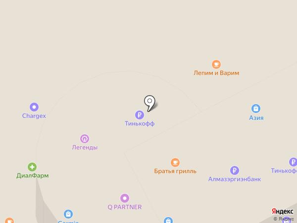 Щит на карте Якутска