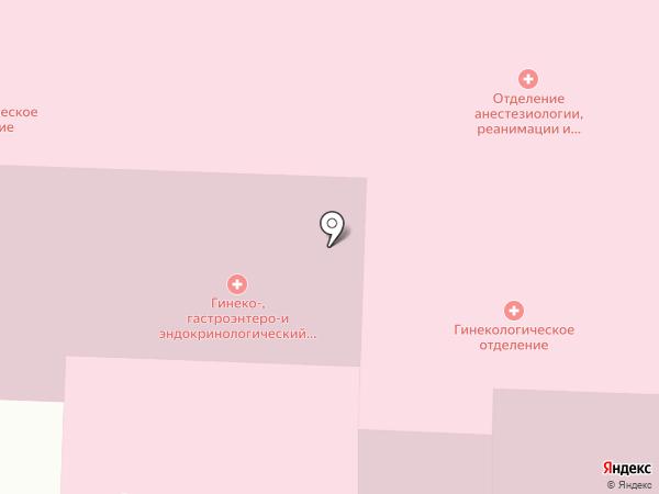 Якутская городская клиническая больница на карте Якутска