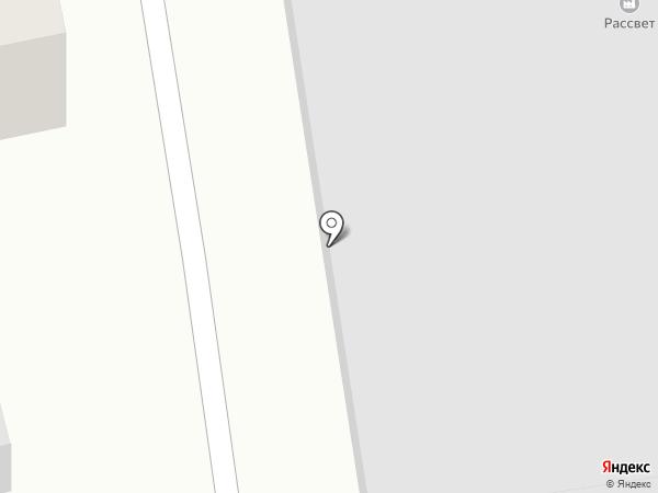Рассвет на карте Якутска