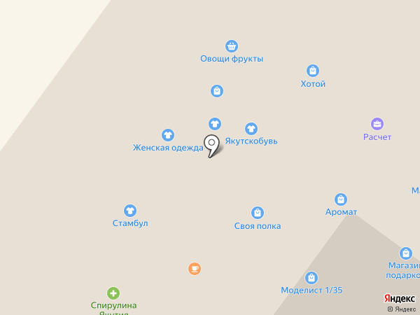 Променад на карте Якутска