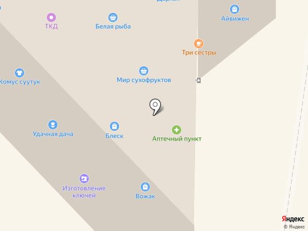Кэрэ на карте Якутска
