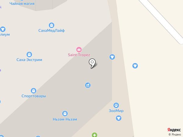Магазин канцтоваров и игрушек на карте Якутска
