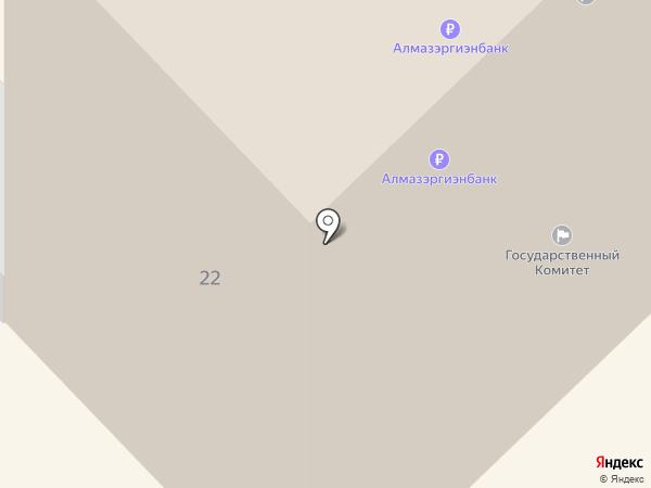 АКБ Алмазэргиэнбанк на карте Якутска