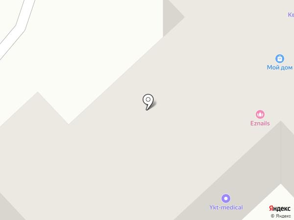 Эгида на карте Якутска