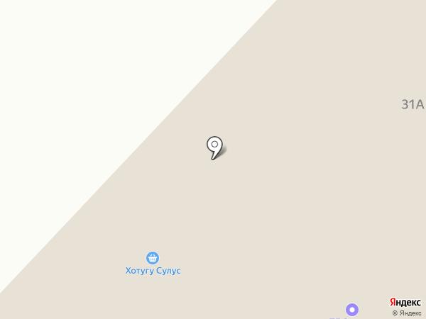 Хотугу Сулус на карте Нижнего Бестях