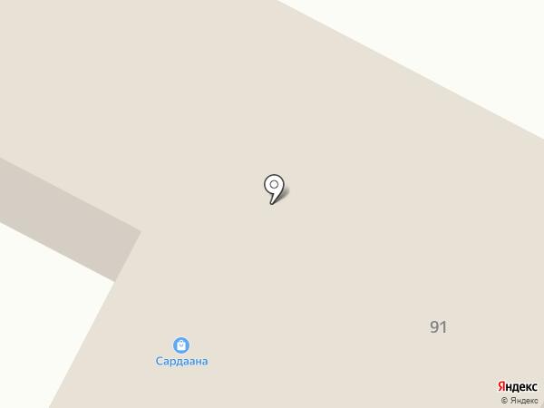 Сардаана на карте Нижнего Бестях