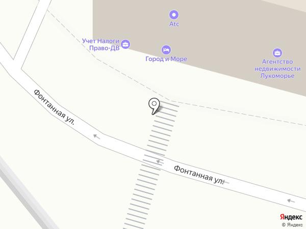Фонтанка на карте Владивостока