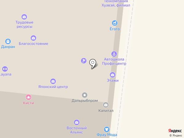 Ёгого на карте Владивостока