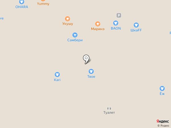 Миринэ на карте Владивостока