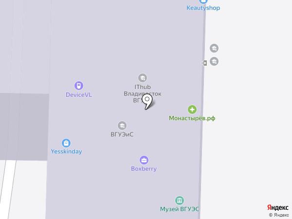 Владивостокский государственный университет экономики и сервиса на карте Владивостока