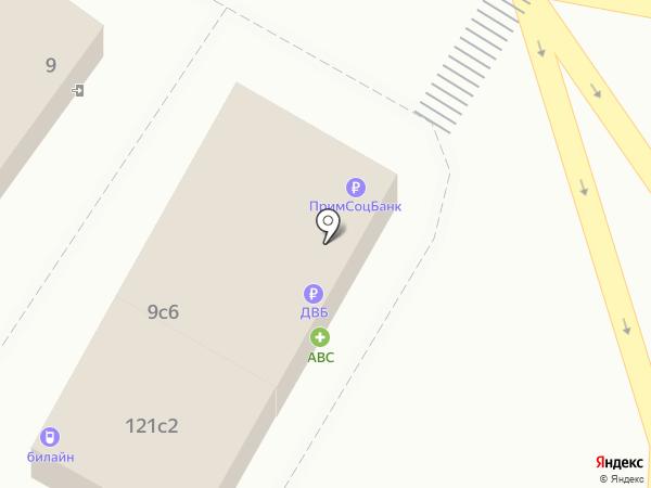 Банкомат, Дальневосточный банк, ПАО на карте Владивостока