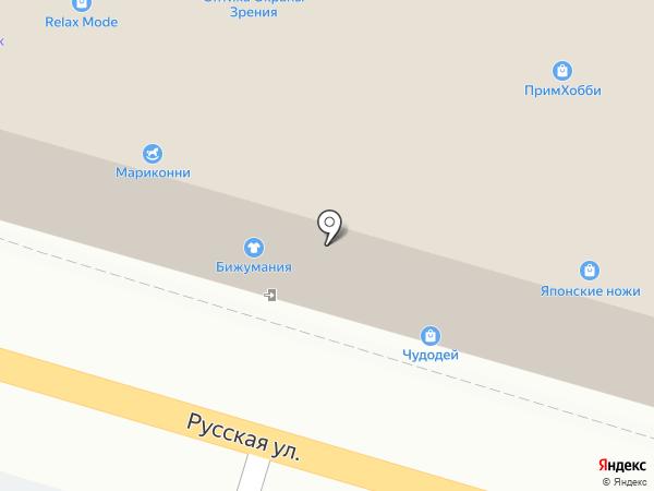 Котофей на карте Владивостока