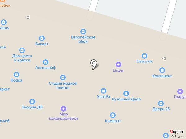 Ситидорс на карте Владивостока