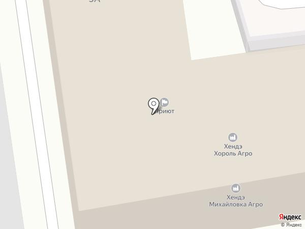 Максимум ДВ на карте Уссурийска